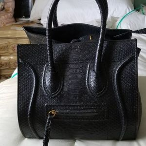 Black phython Celine  bag in good condition